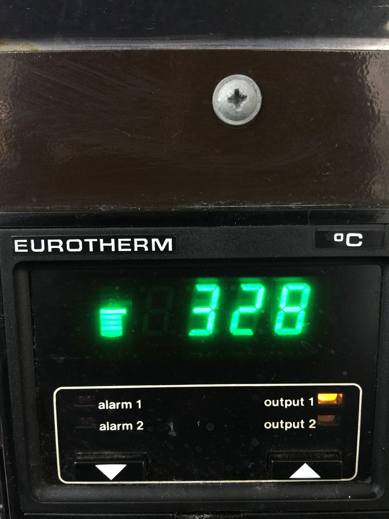 Digital Screen, Furnace has reached 328°C
