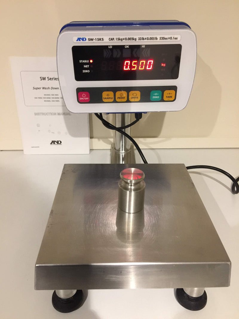 A&D SW-15KS Super Washdown Scales - Richmond Scientific