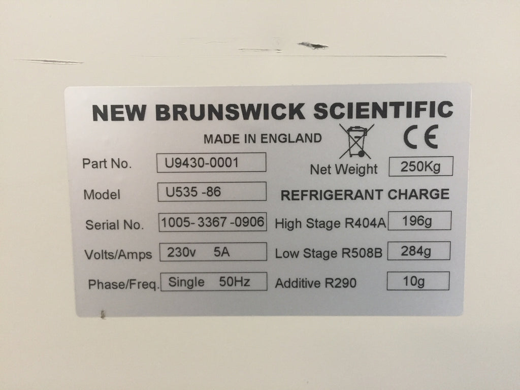 New Brunswick Scientific Innova U535 Ultra Low Temperature
