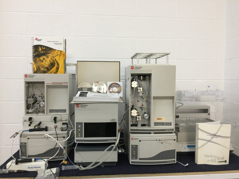 Beckman Coulter HPLC System - FC/I Module, Protein Fractionation System, UV Detector, Autosampler, Fraction Collector - Richmond Scientific