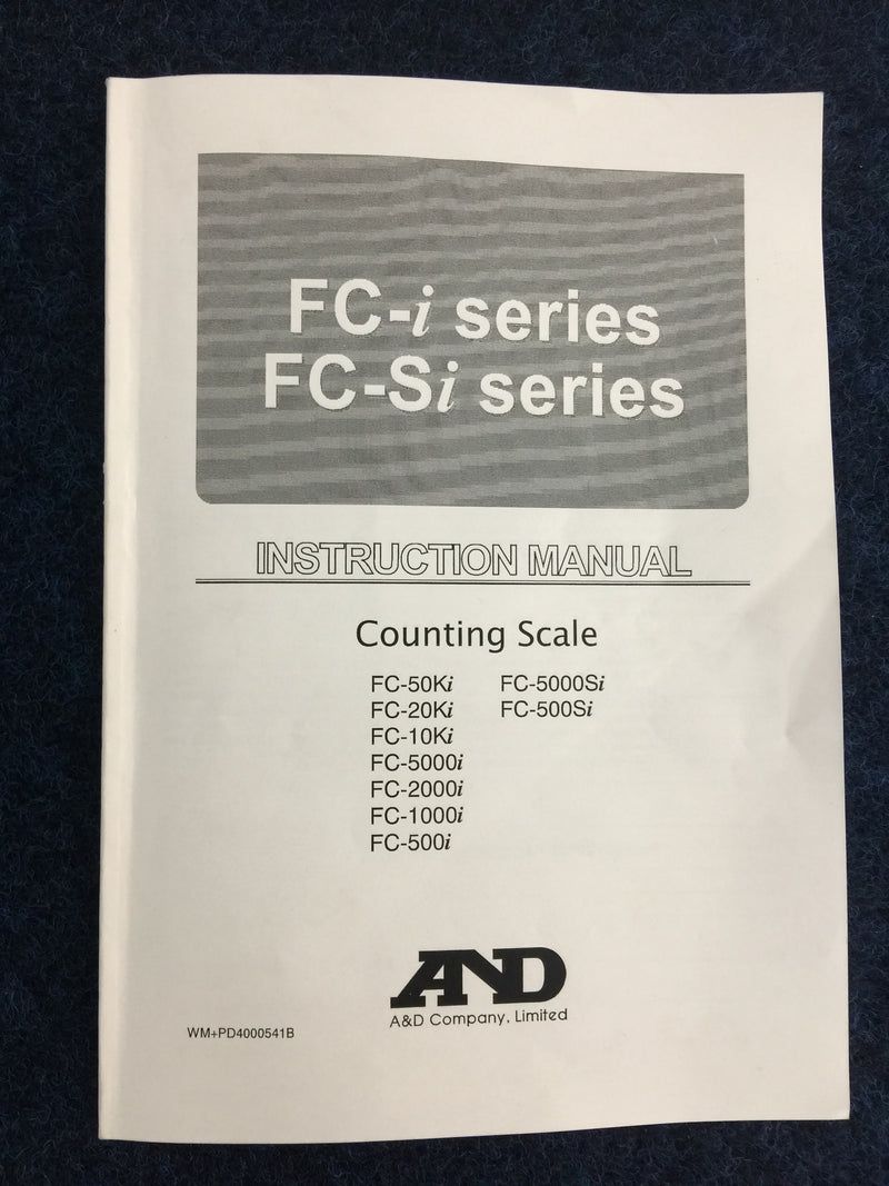 A&D FC-5000Si Counting Scale - Richmond Scientific