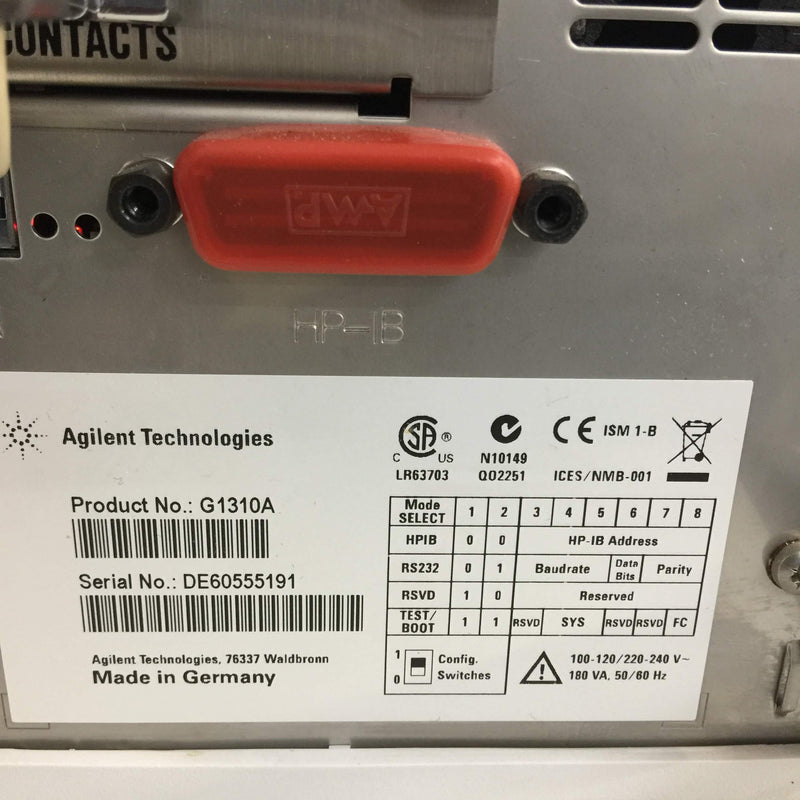 Agilent 1200 Series G1310A Isocratic Pump - Richmond Scientific