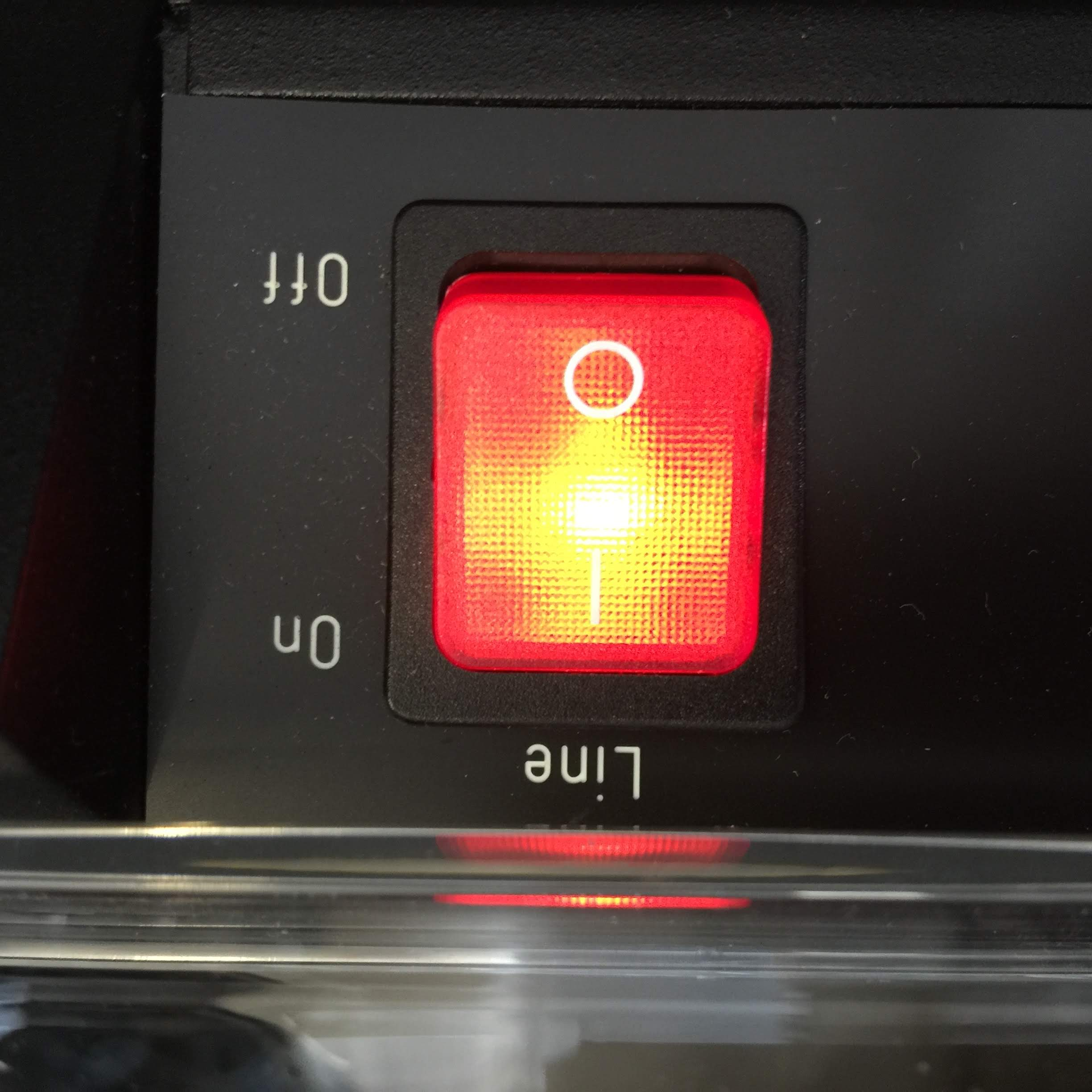 On/Off Switch, Lights up When Powered On