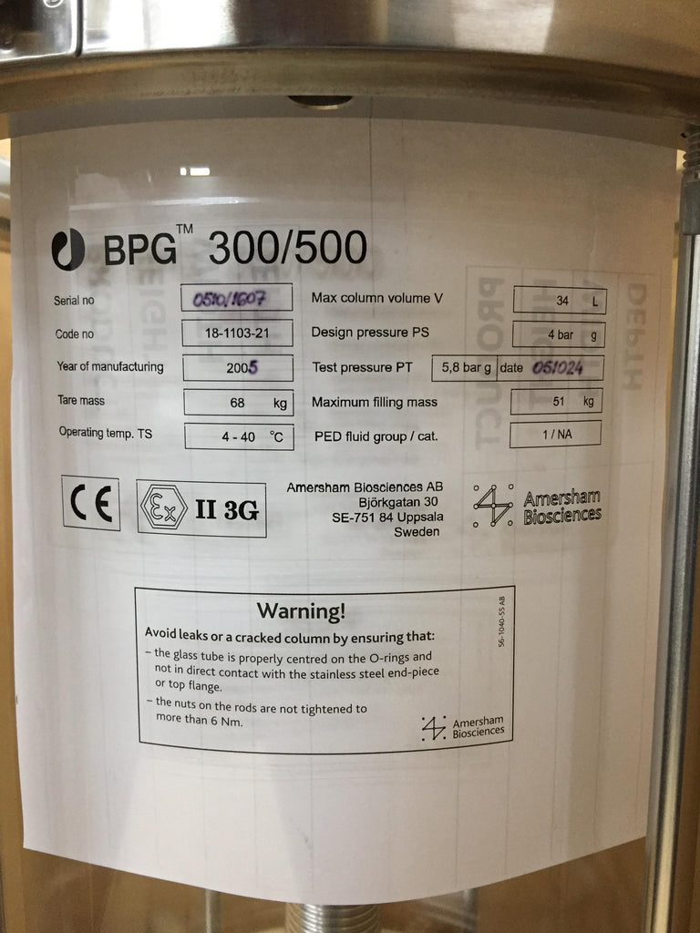 Amersham Biosciences BPG 300/500 Chromatography Column