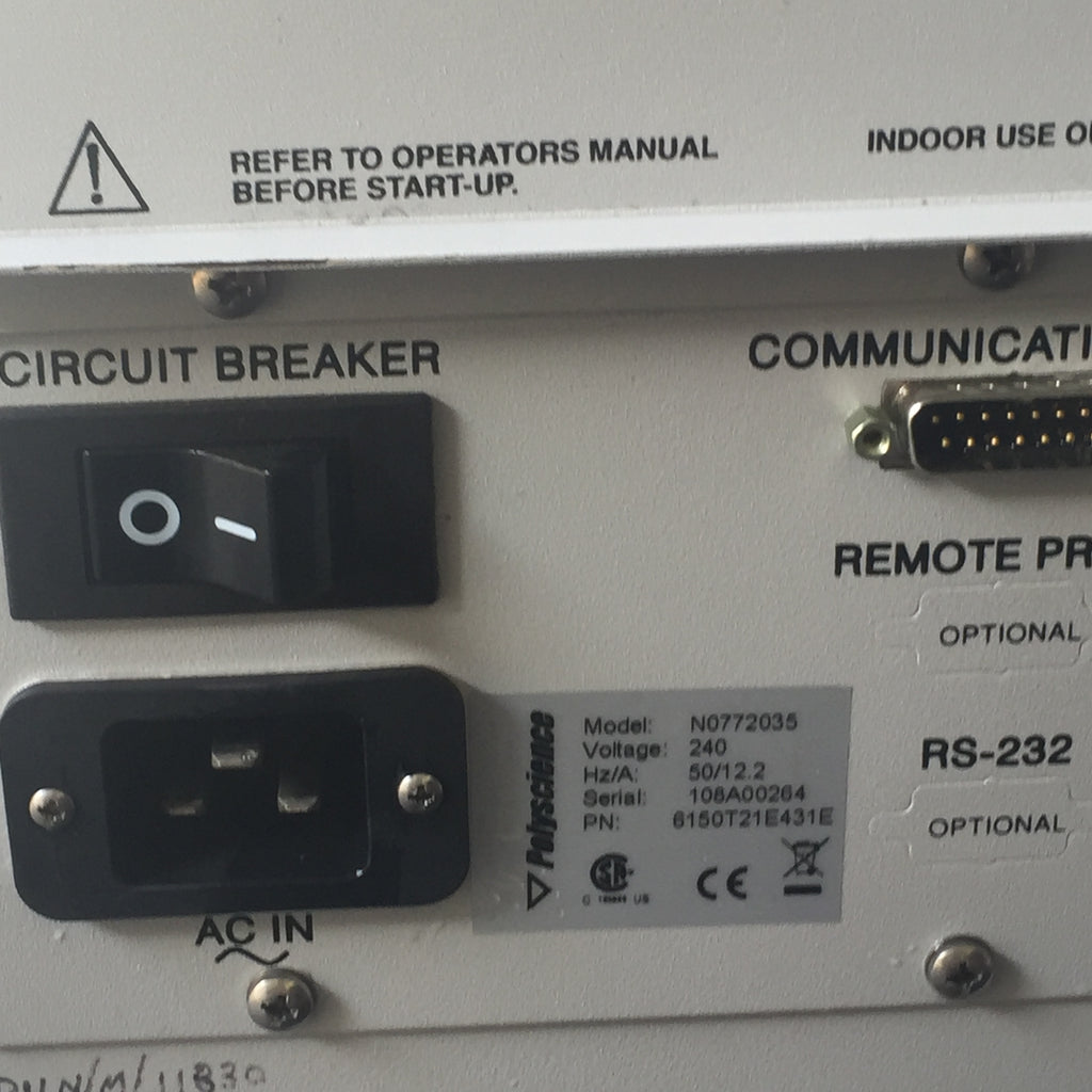 Circuit Breaker On/Off Switch, AC In & Communications Port, Product Information