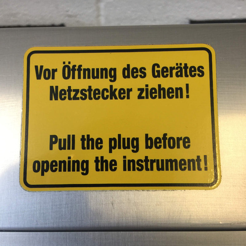 Opening Instrument Warning