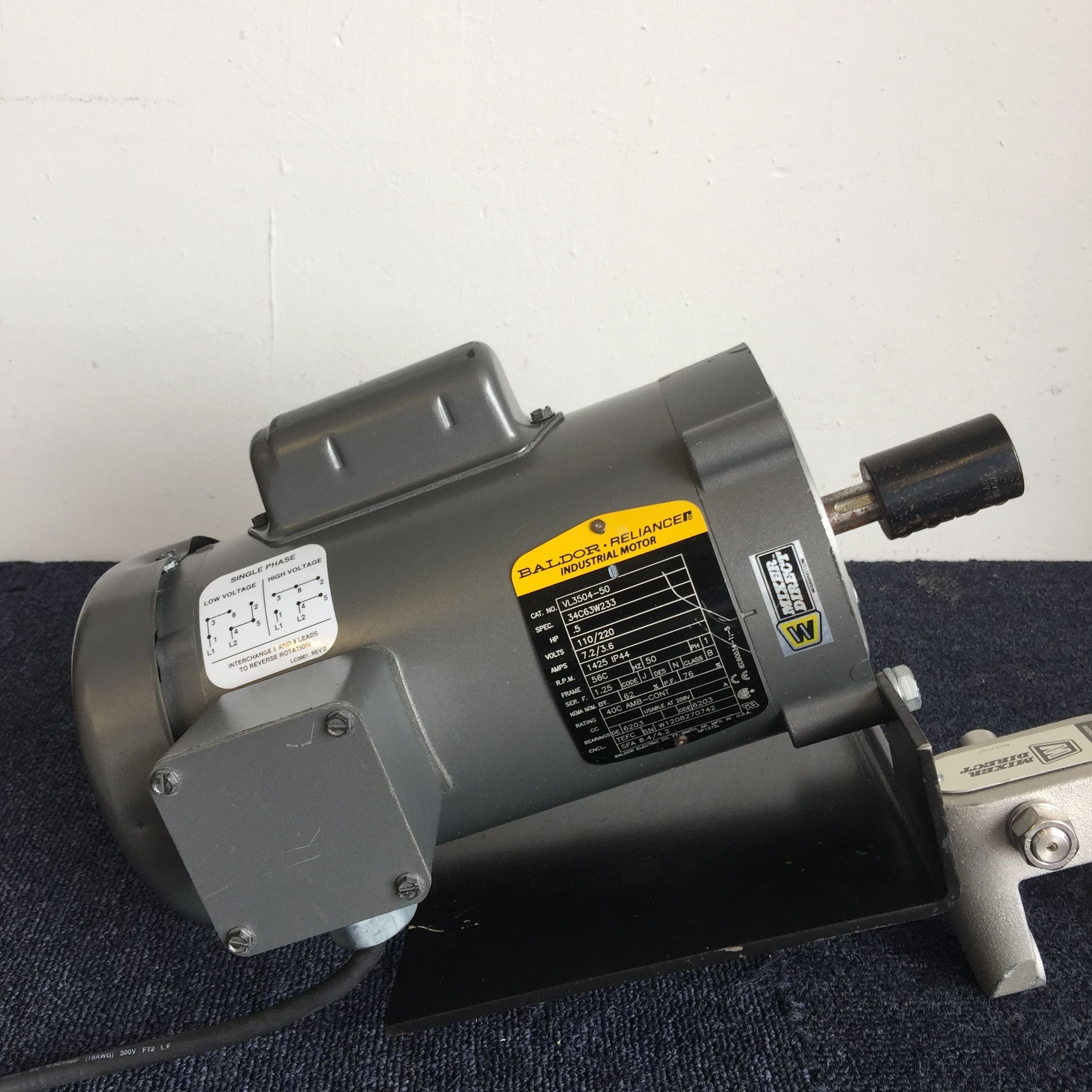 Baldor Reliance VL3504 Industrial Motor