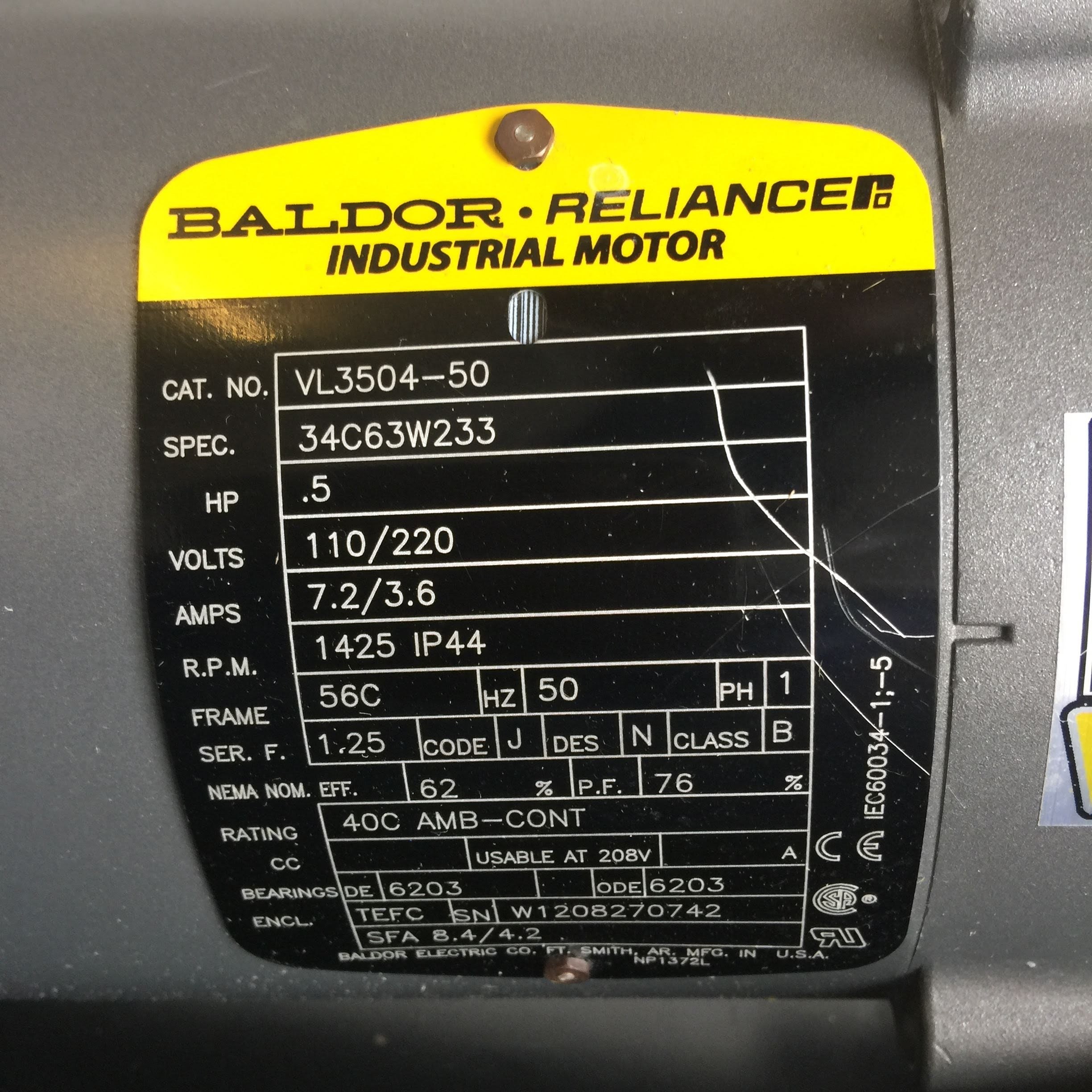 Baldor Reliancer Industrial Motor