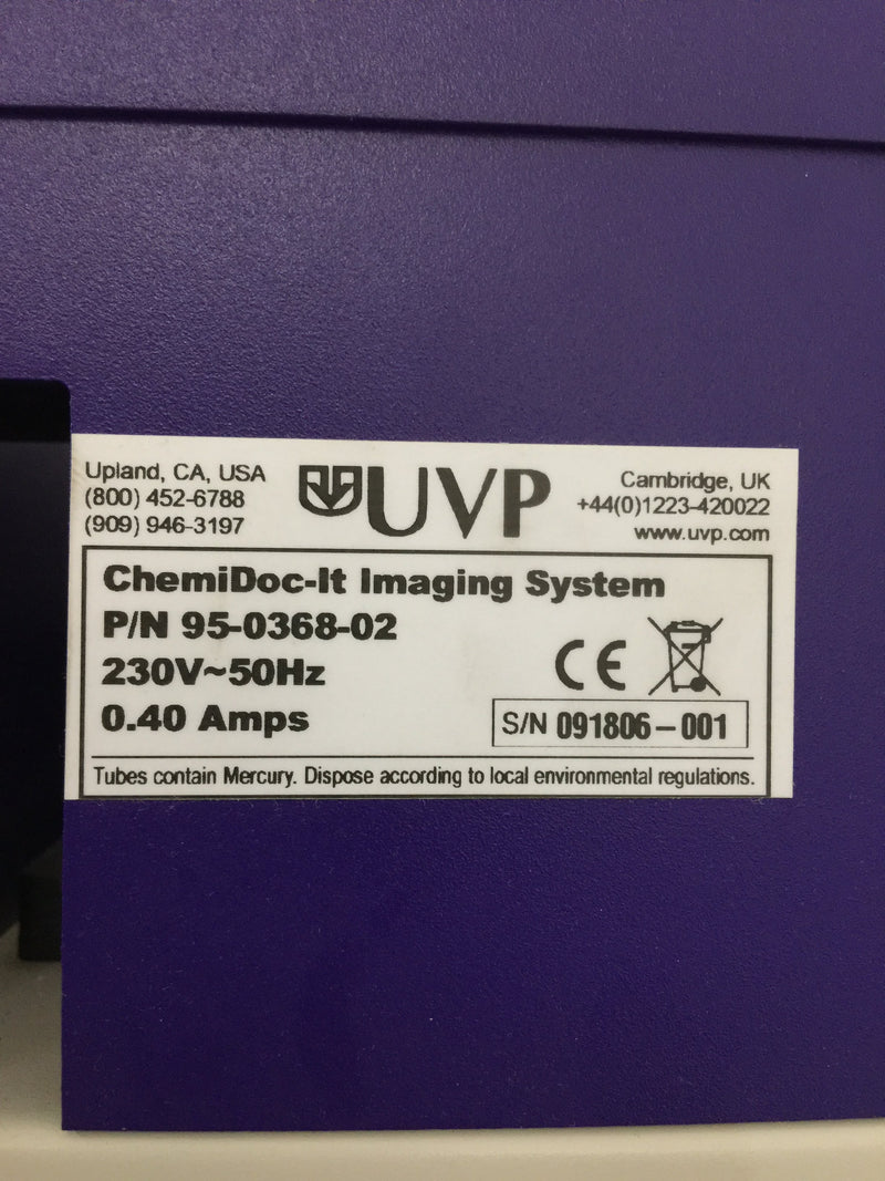 UVP ChemiDoc-IT Imaging System - Richmond Scientific