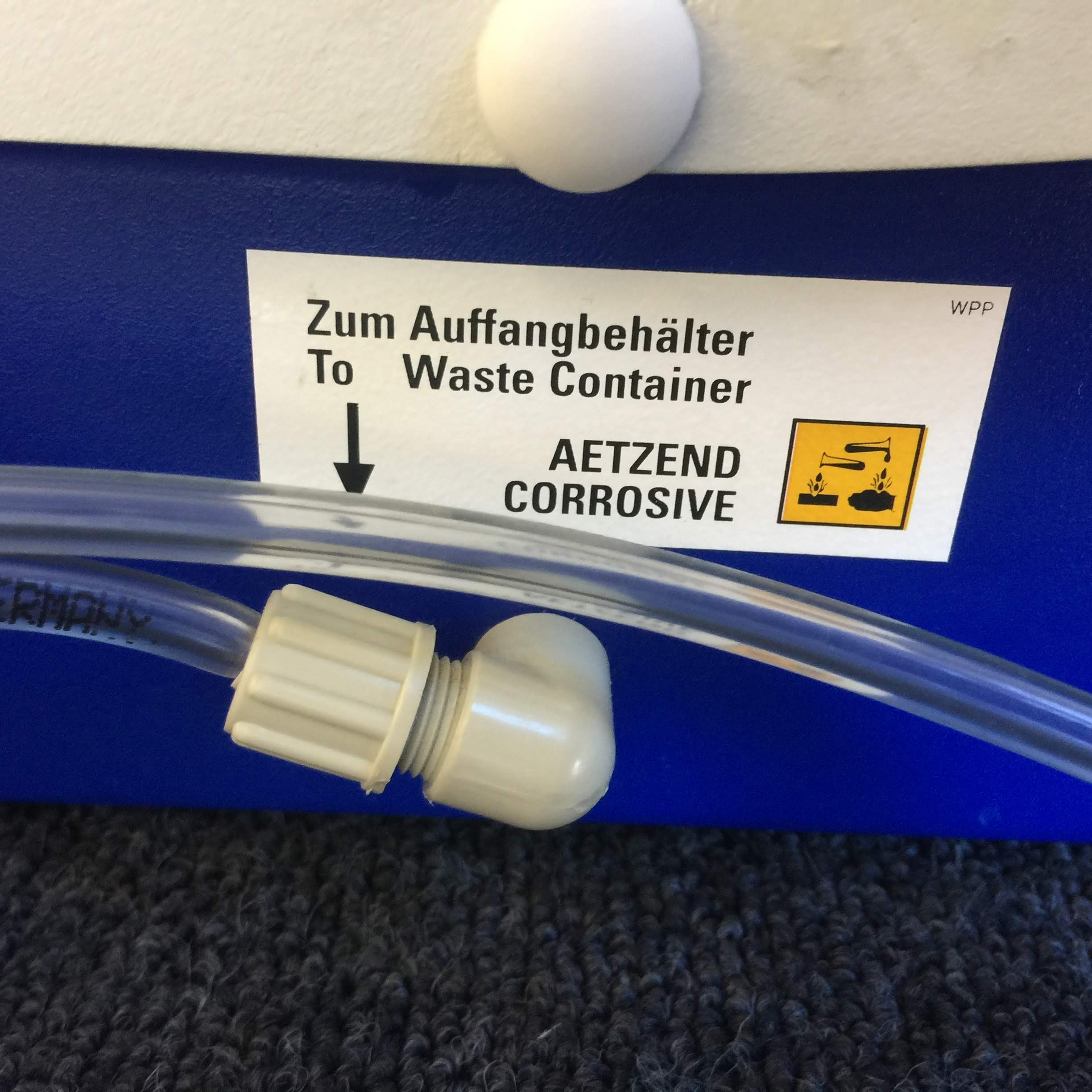 Tube to Waste Container
