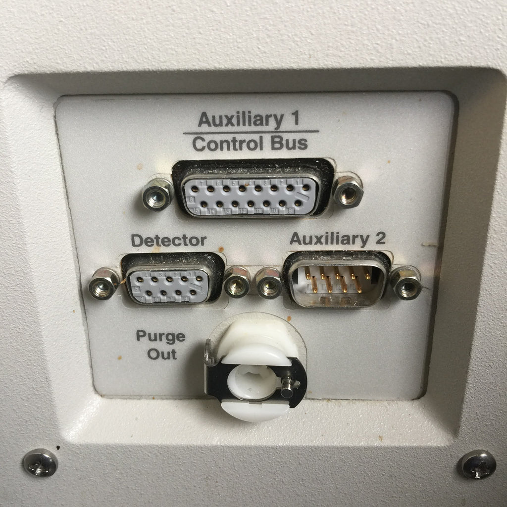 Auxiliary 1 Control Bus, Detector, Auxiliary 2 & Purge Out Ports