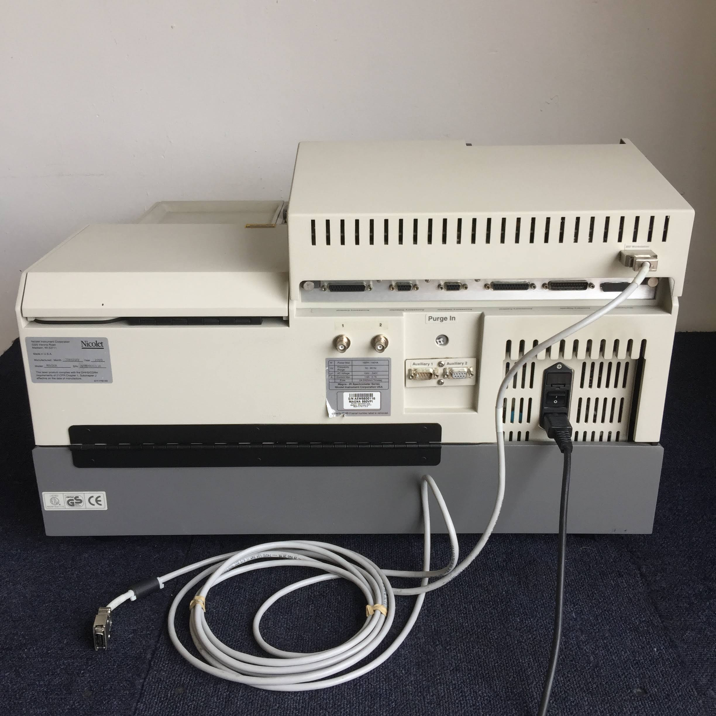 Nicolet Magna 860 FT-IR Spectrophotometer Rear with Wiring