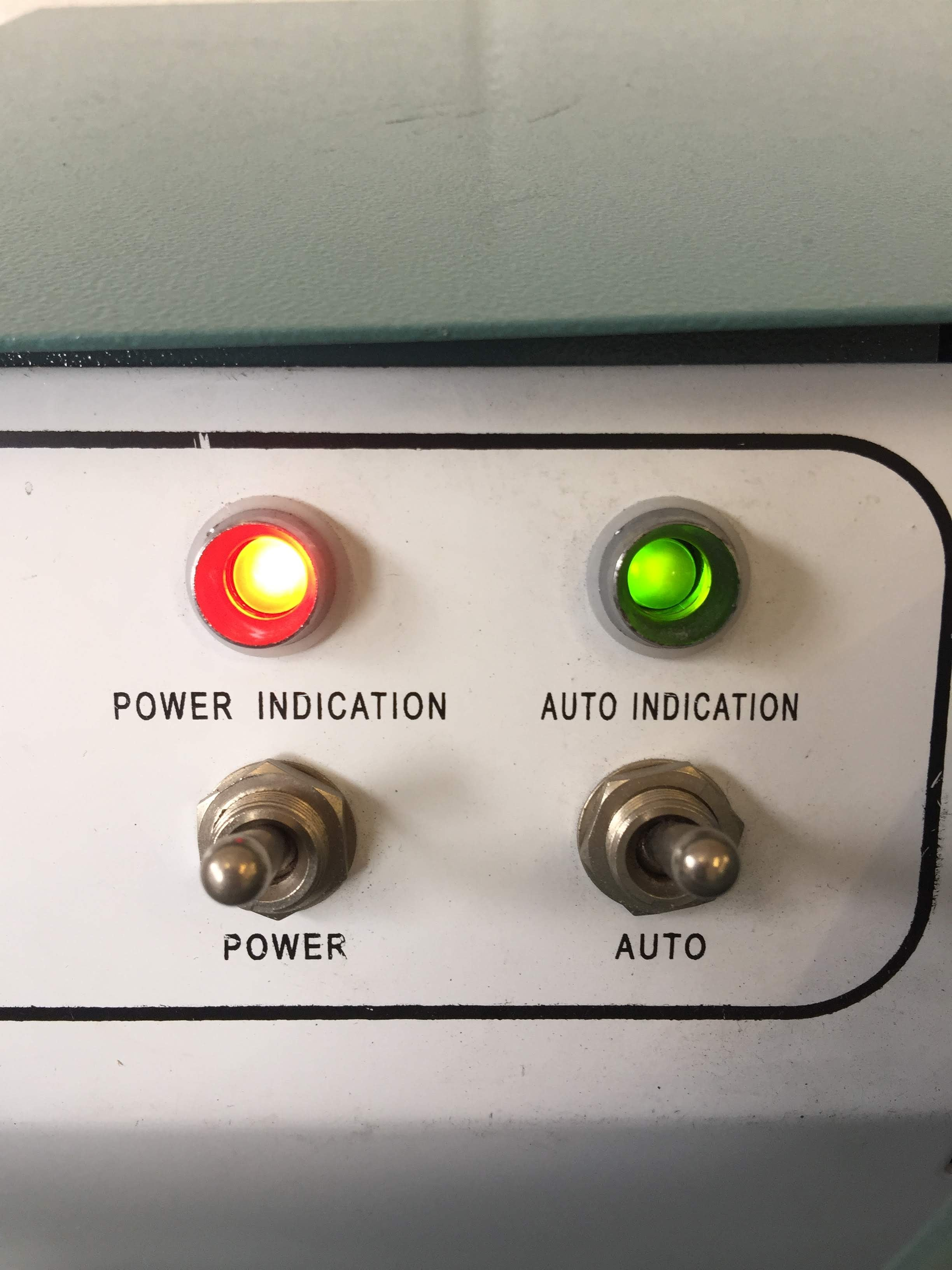 Power & Auto Switches and Indication Lights