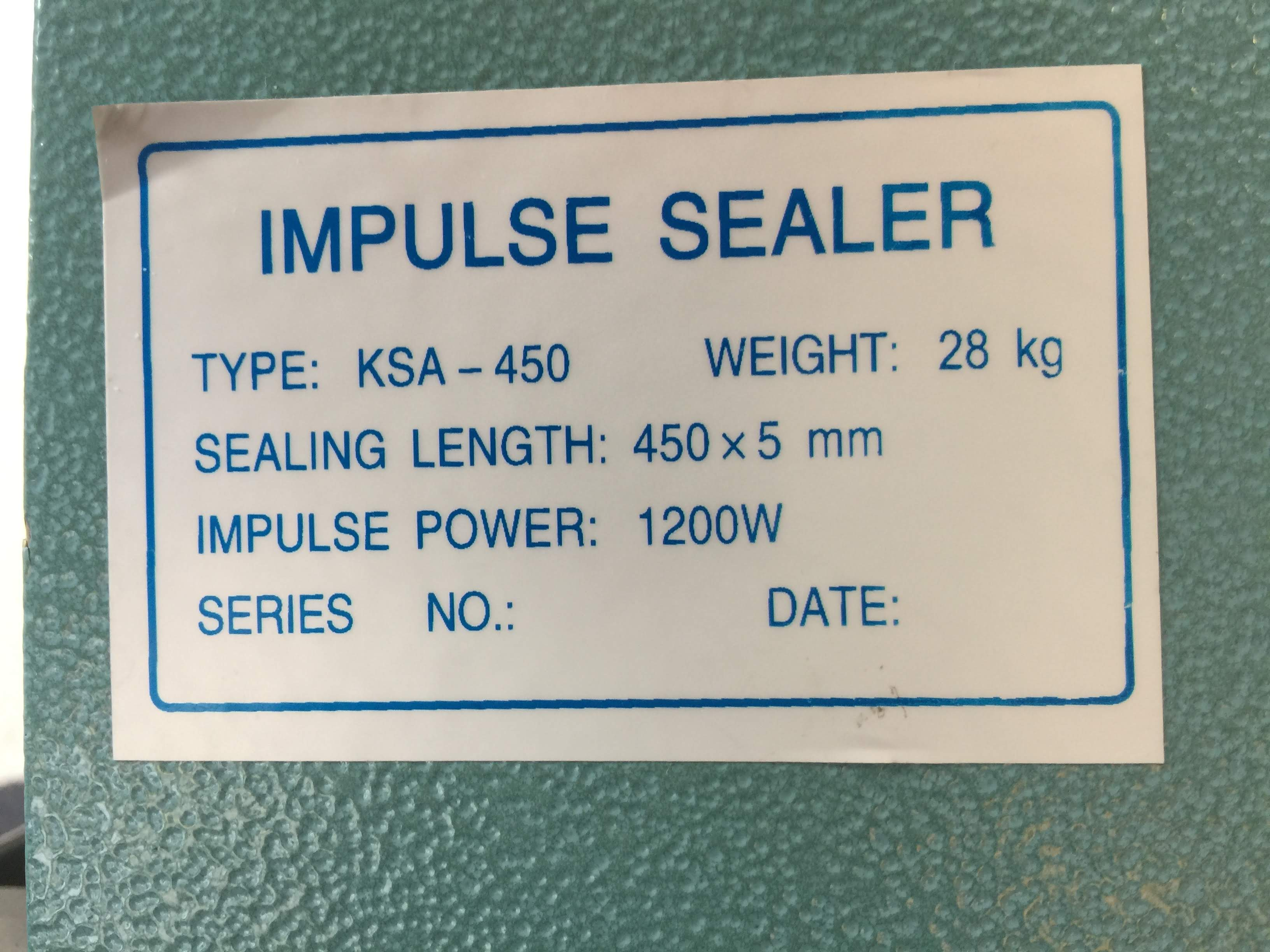 Impulse Sealer Product Information