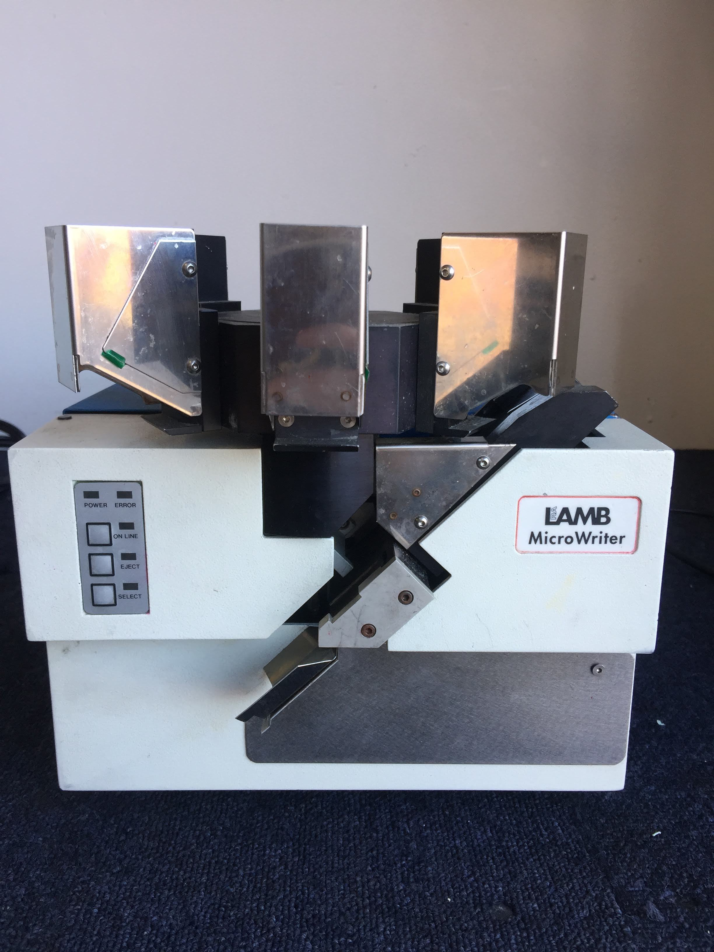 RA Lamb Microwriter E22.01MWR Cassette Labeller Slide Printer Lab Histology