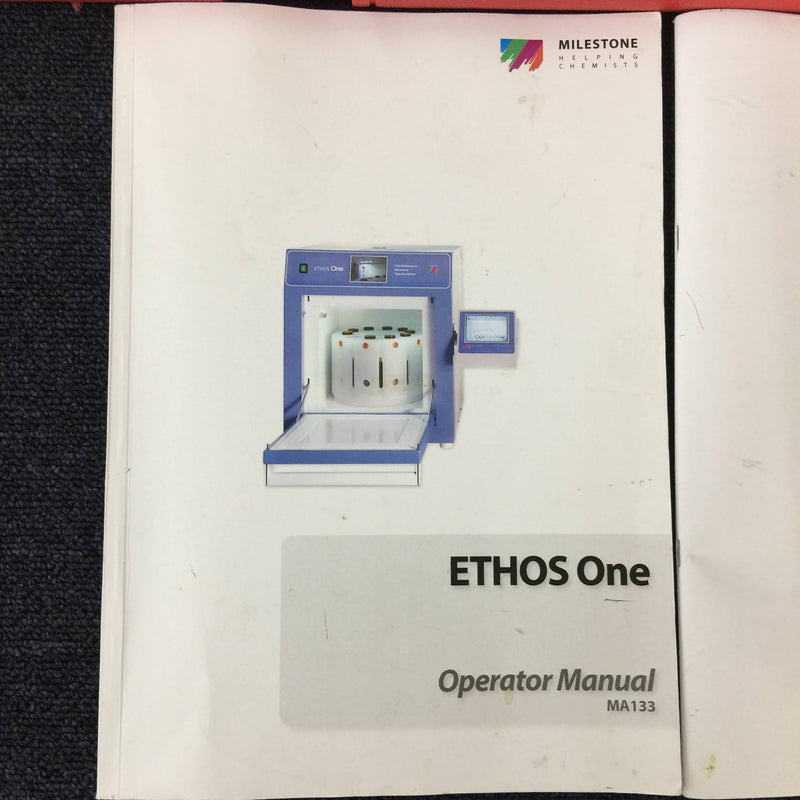 Milestone Ethos One High Performance Microwave Digestion System with Segmented Rotor & Operator Manuals - Richmond Scientific