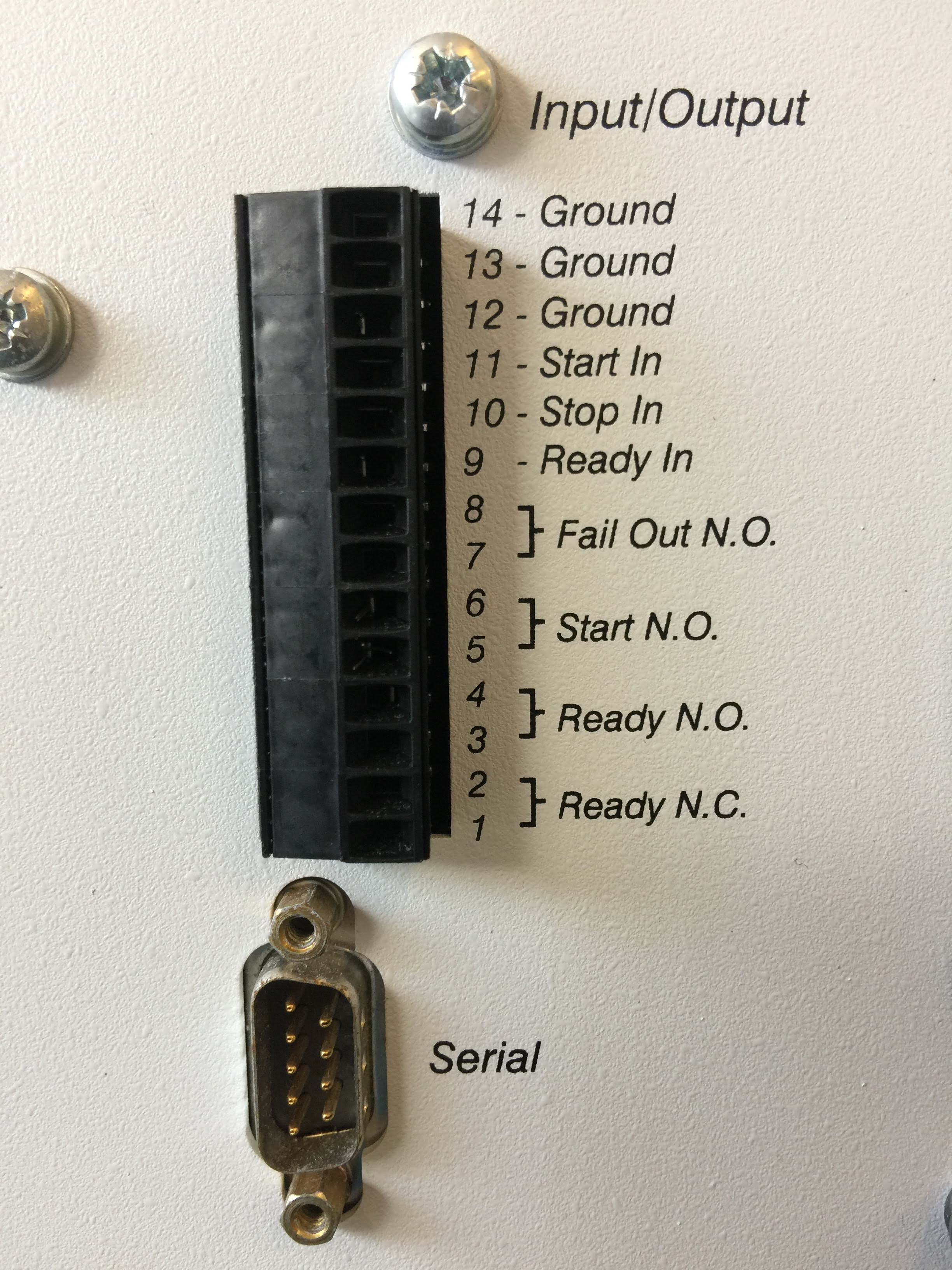 Input/Output List, Serial Port