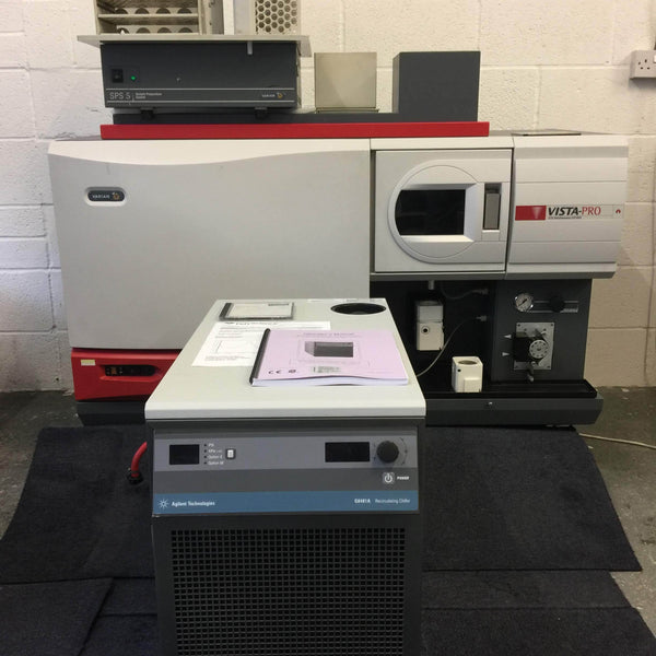 Varian Vista-PRO ICP-OES with Agilent G8481A Recirculating Chiller and Varian SPS 5 Sample Preparation System