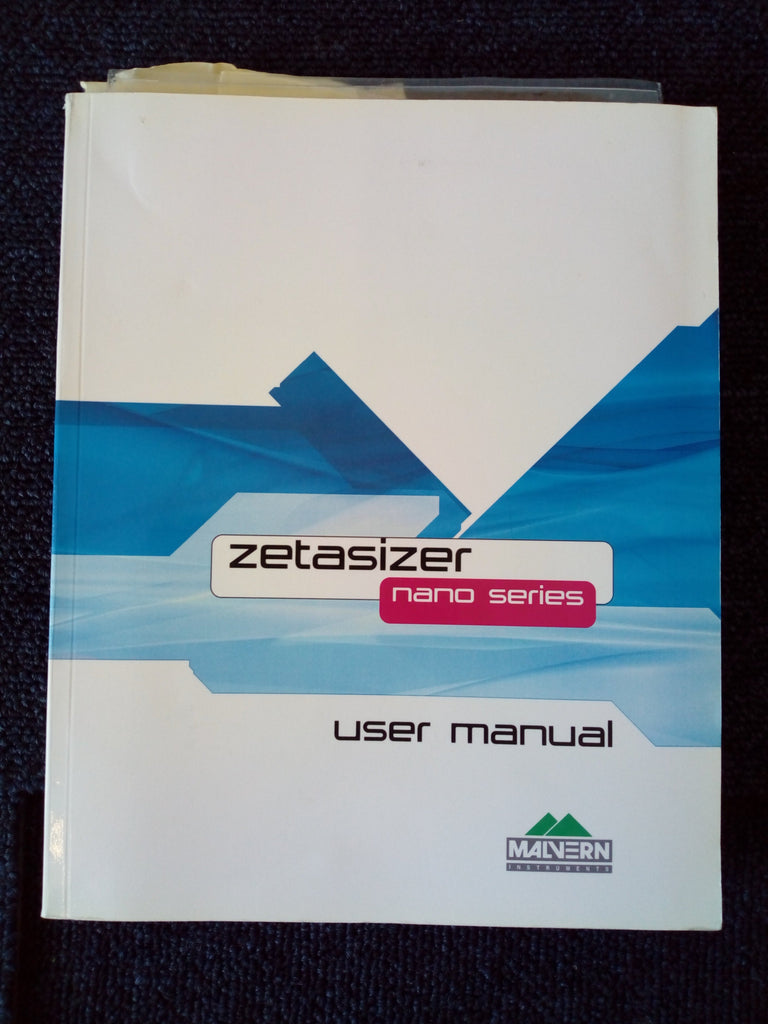Zetasizer Nano Malvern Intruments