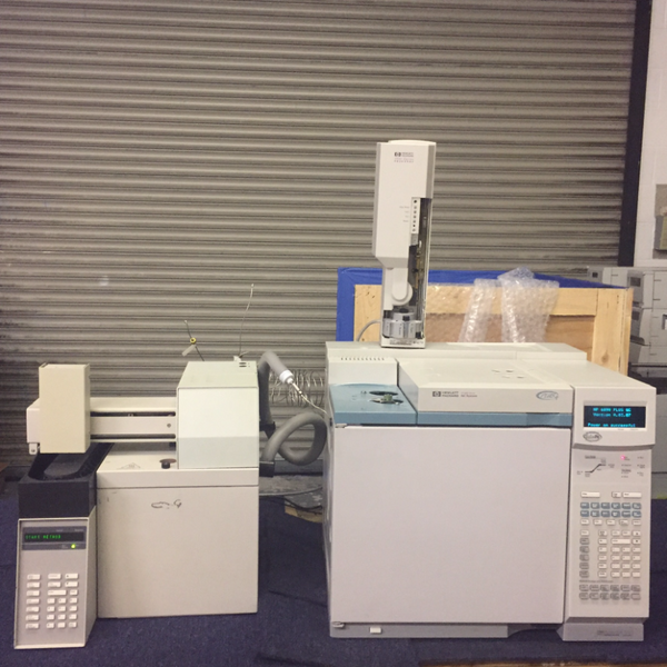 Hewlett Packard 6890 GC with Autosampler and Headspace Sampler