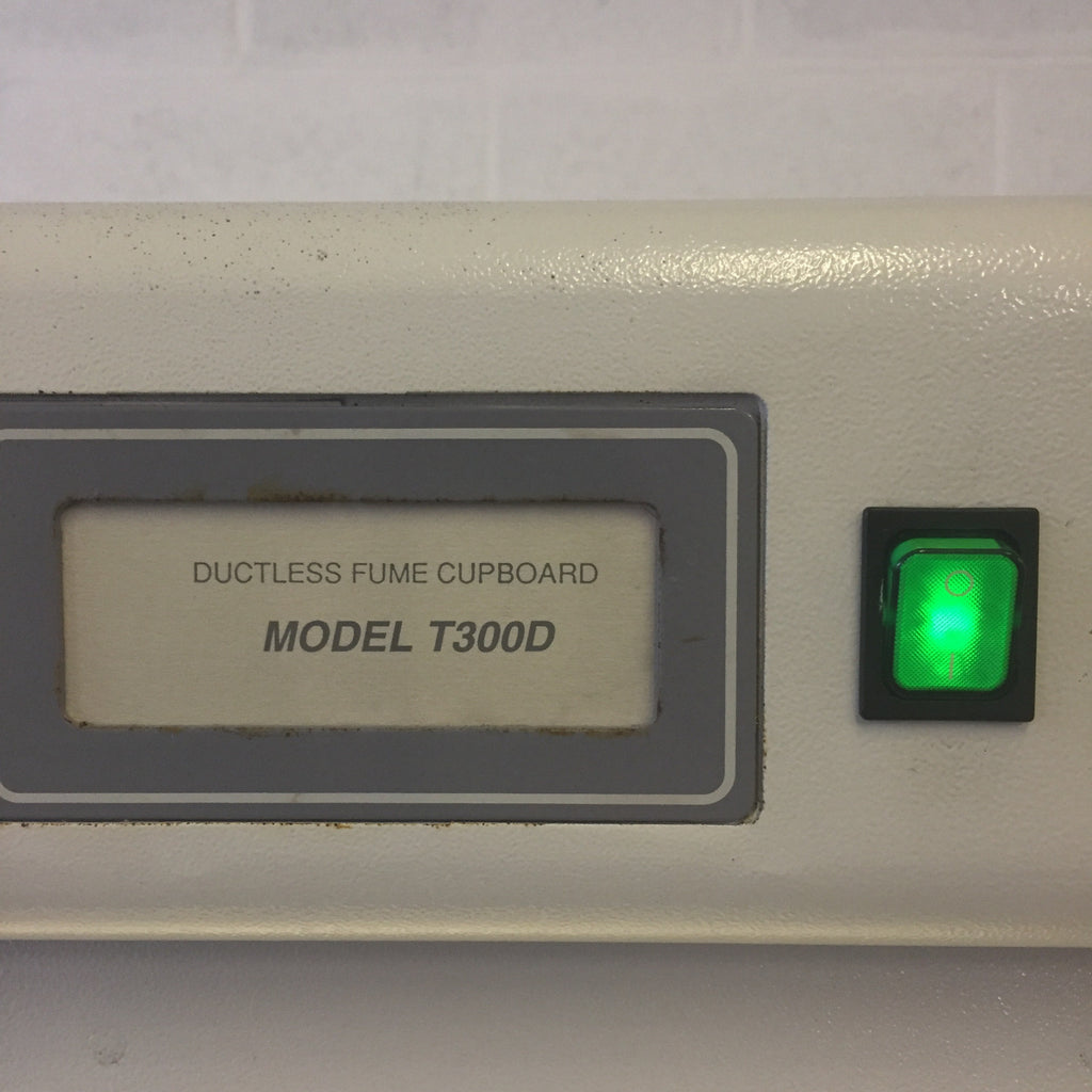 Ductless Fume Cupbpoard Model T300D, Green Light On/Off Switch