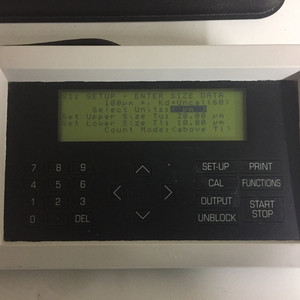 Beckman Coulter Z1 Particle Counter - Dual Threshold