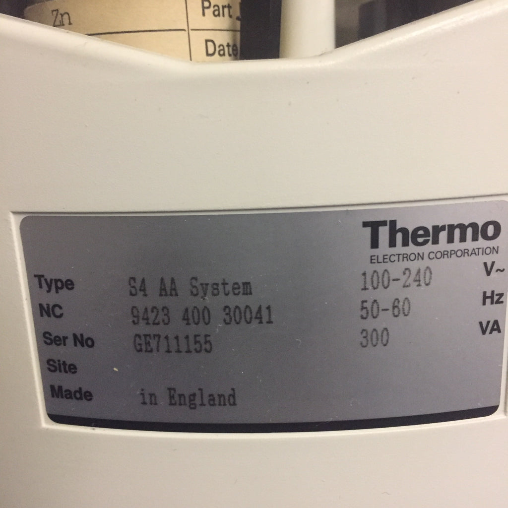 Thermo Elemental Solaar AASeries Spectrometer