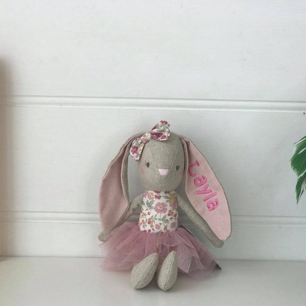 Personalised Alimrose Baby Pearl Bunny - Blush