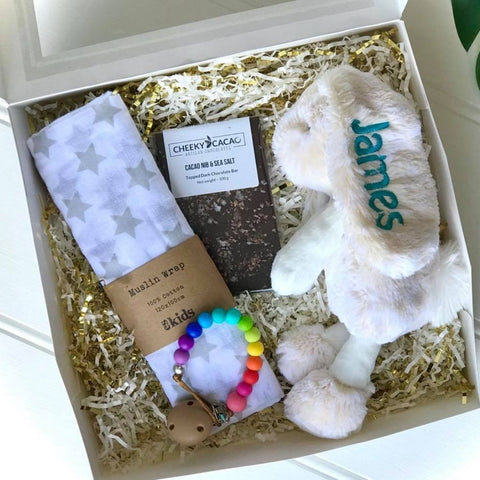 Personalised Frankie Bunny Gift Box - Small Cream