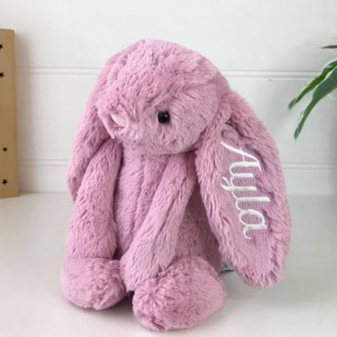 Personalised Jellycat Bunny Rabbit Australia Tulip Pink Easter