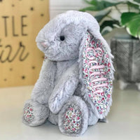 Personalised Jellycat Bunny - Silver Blossom