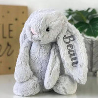 Personalised Jellycat Bunny - Silver