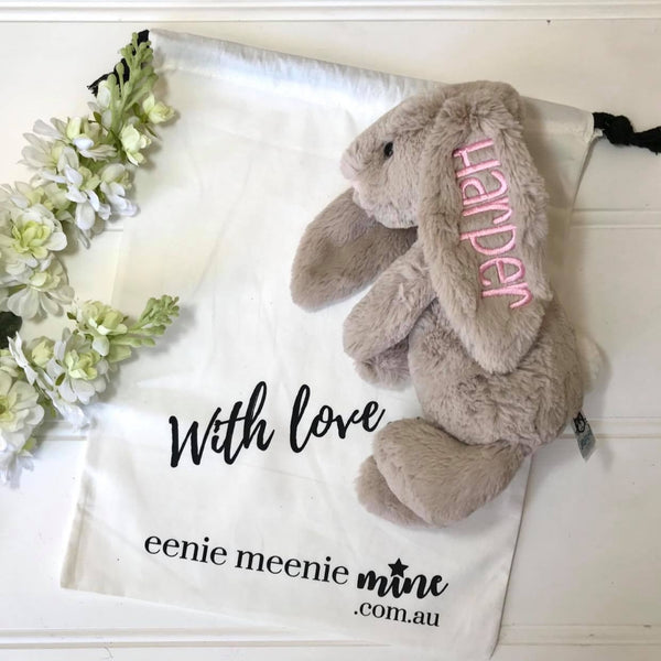 Personalised Jellycat Bunny Australia Gift Beige bunny