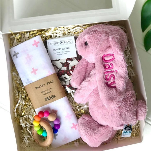 Personalised newborn gift hamper Australia