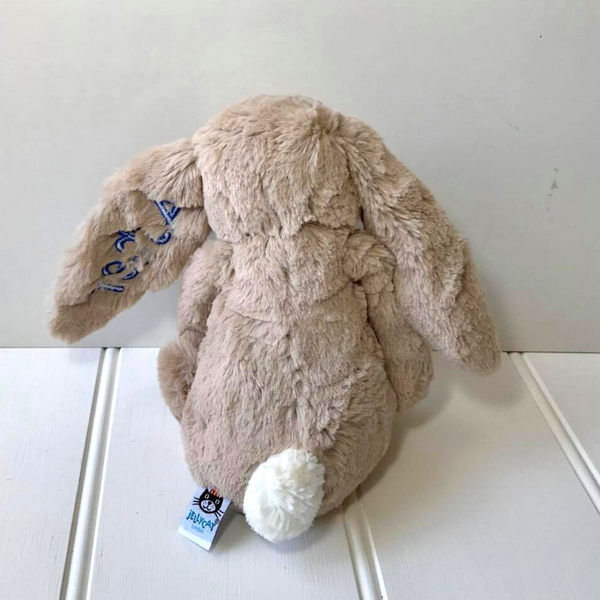 Personalised Jellycat Bunny beige