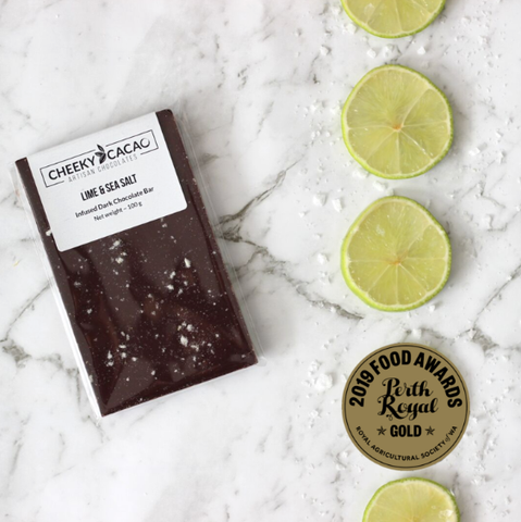 Cheeky Cacao | Lime & Sea Salt Chocolate Bar