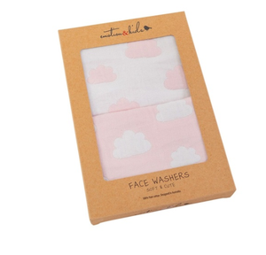Emotion & Kids | Pink Clouds Muslin Face Washers