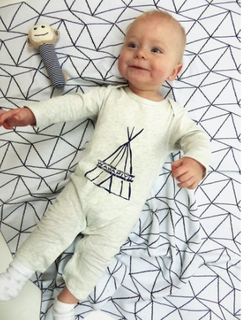 Emotion & Kids | Grey TeePee Romper (000)