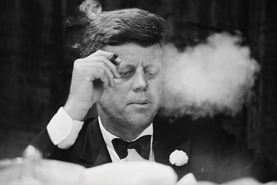 Cigar-Smoking Icons: John F. Kennedy
