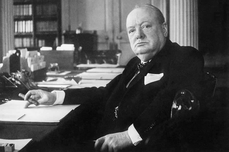 Cigar-Smoking Icons: Winston Churchill