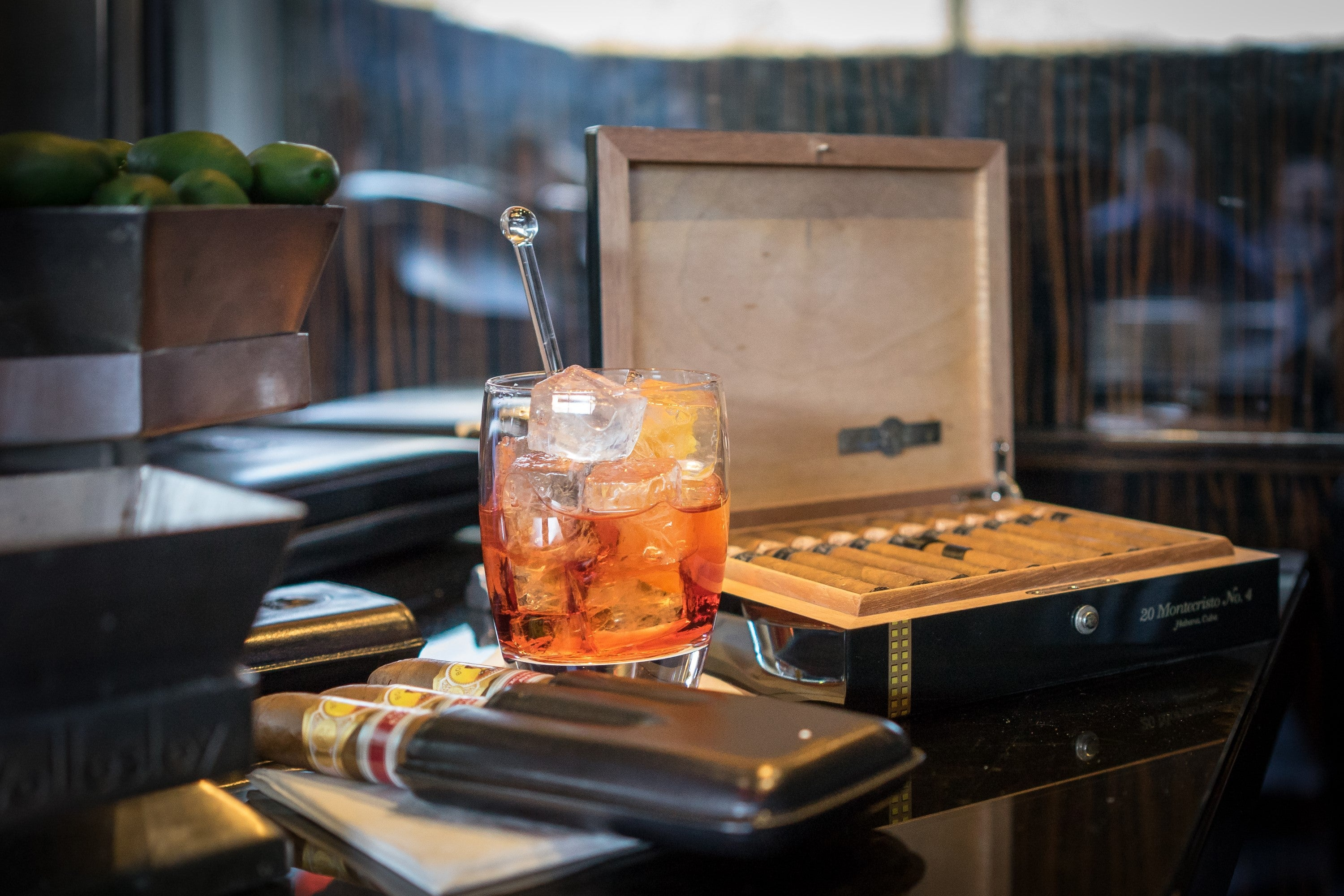 A Cuban cigar lounge is perfectly finished off with the addition of a Negroni