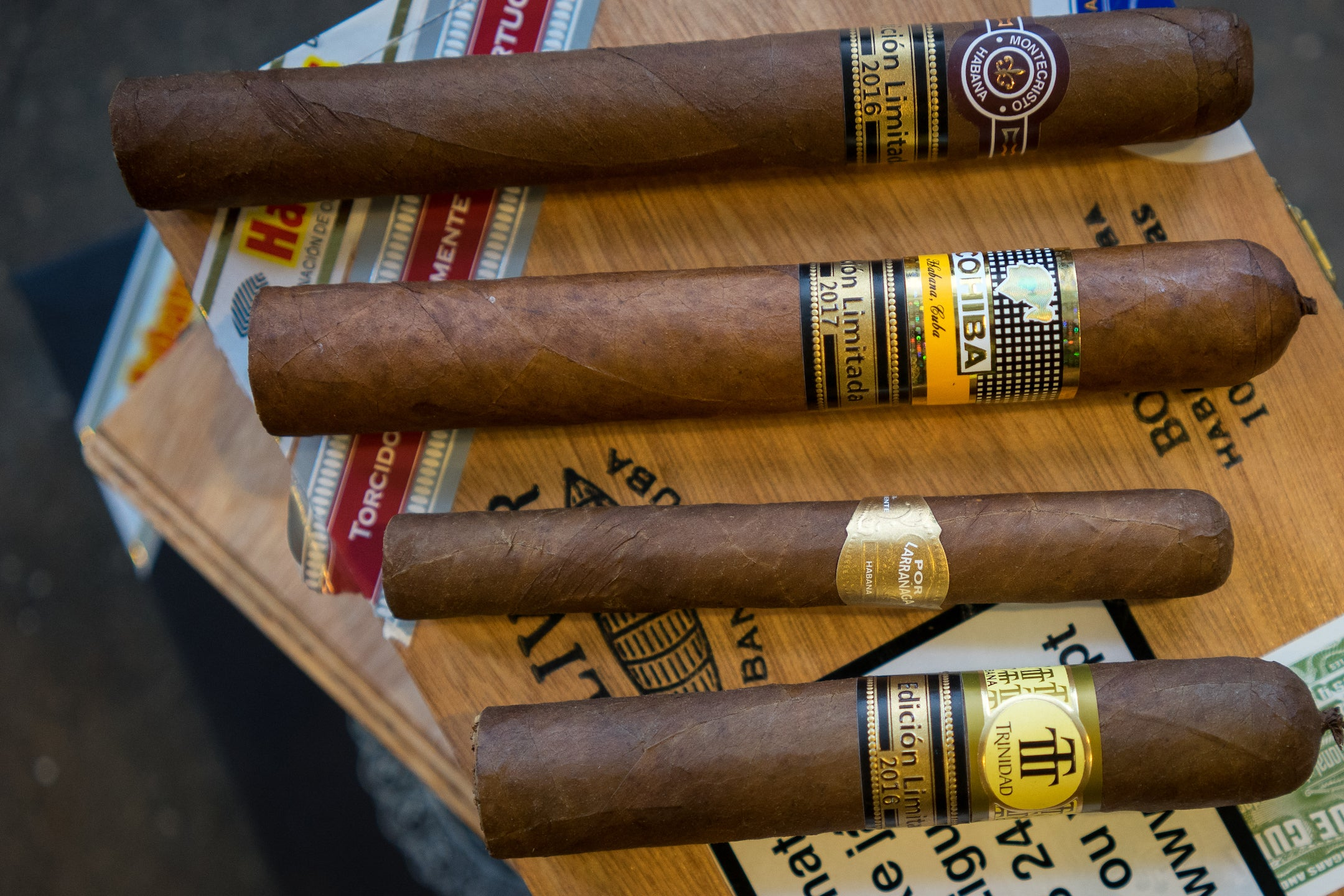 A selection of Limited Edition Trinidad Cuban Cigars.