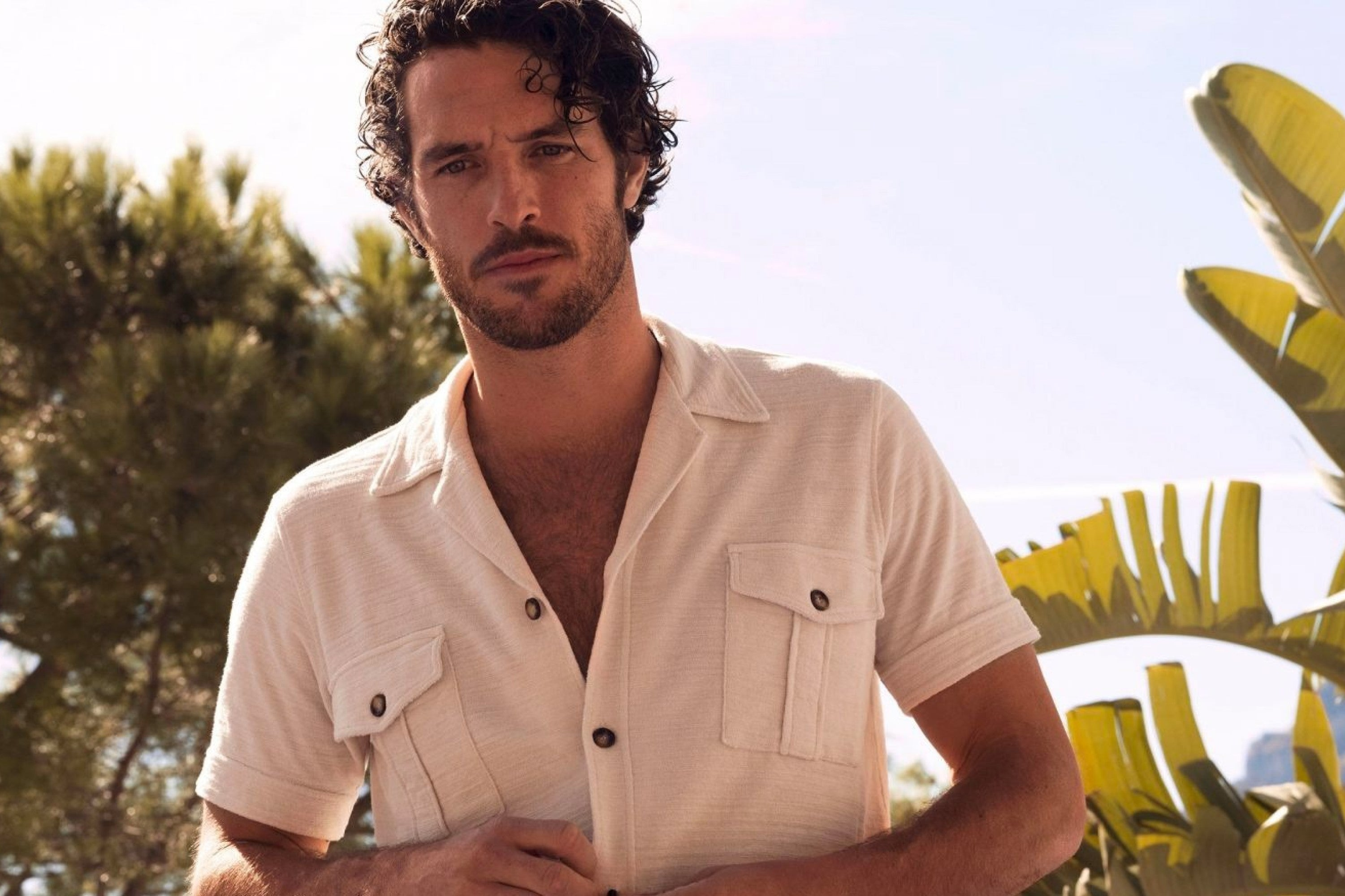 A towelling Guayabera, perfect for the beach