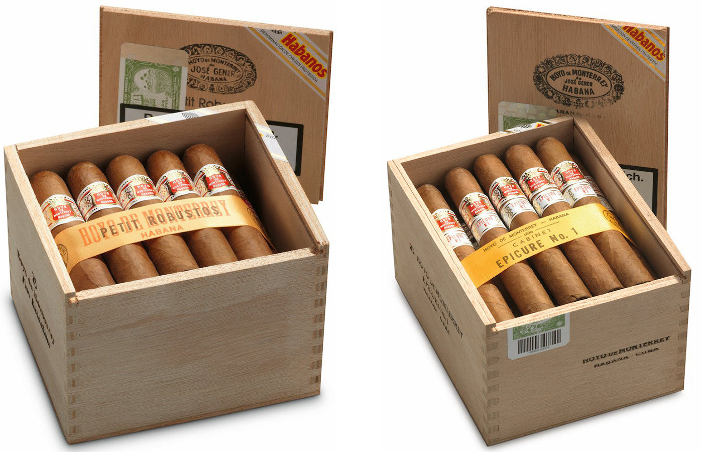 Hoyo de monterrey petit robusto cigar and epicure no. 1 cigar EGM Cigars
