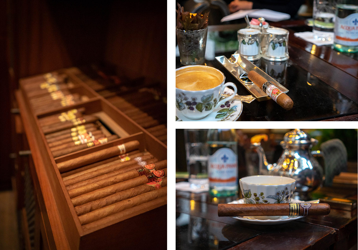Paring cigars at the luxurious Garden room at the Lanesborough london egm cigars