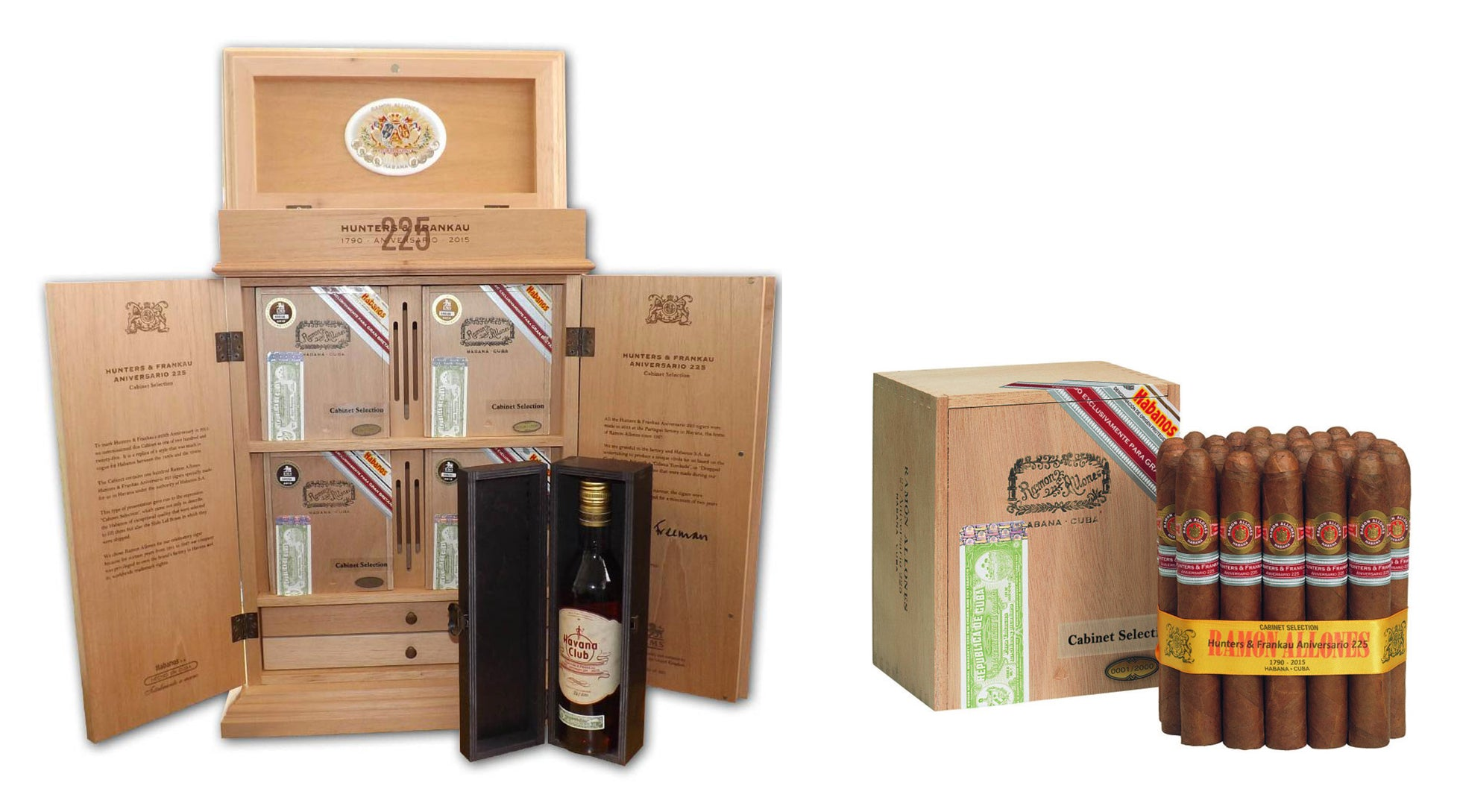 RAMON ALLONES HUNTERS & FRANKAU 225TH ANIVERSARIO HUMIDOR cigars for sale online egm cigars