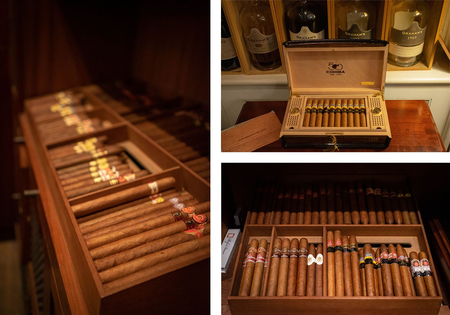 The humidor inside the lanesborough London Cohiba MAjestuosos 1966 50 aniversario humidor EGM Cigars