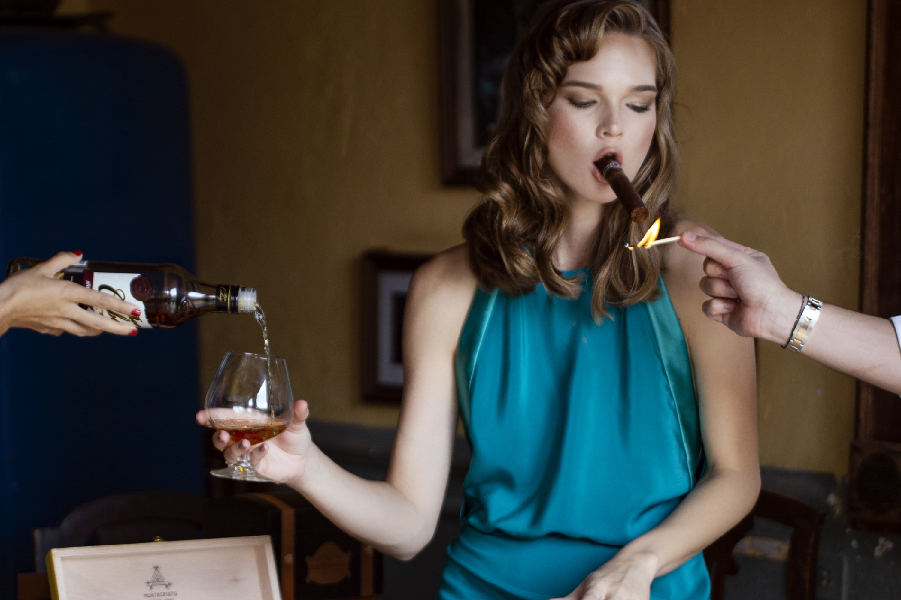 Pair a rare cigar with an excellent beverage for a celebration