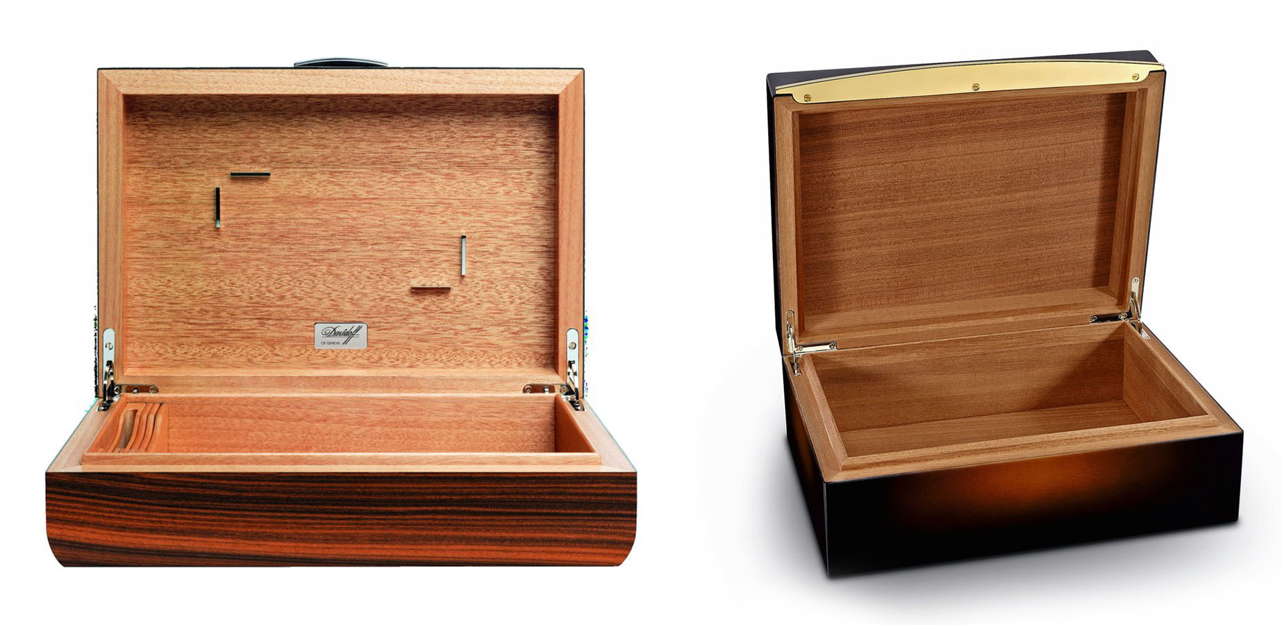 davidoff office humidor rosewood and s.t. dupont humidor egm cigars