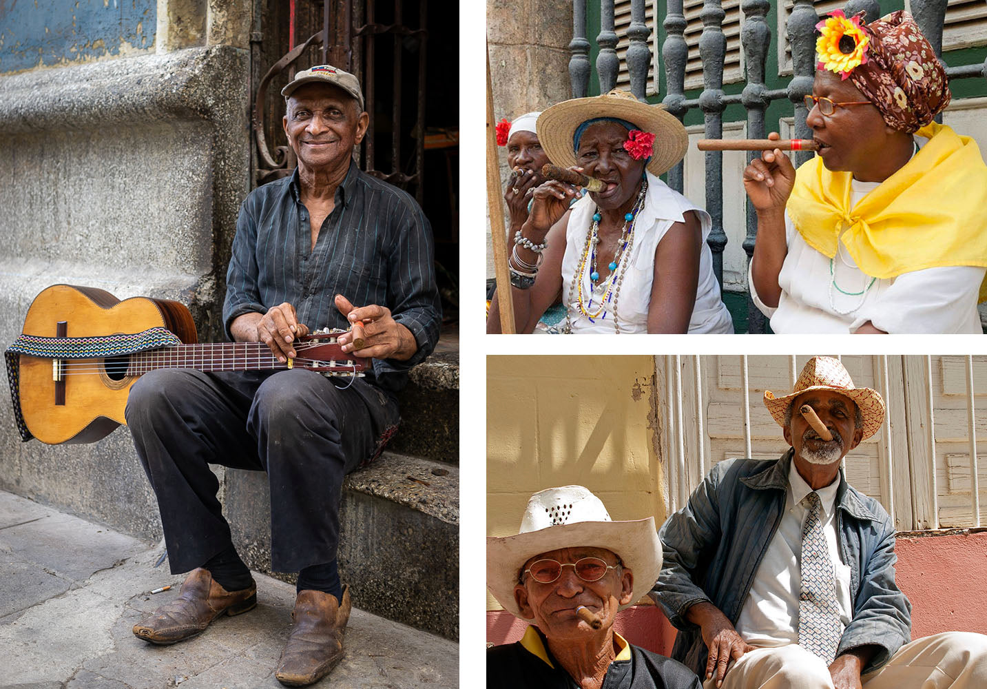 locals smoking cuban cigars in the streets of havana cuba egm cigars